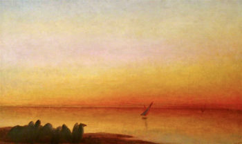 Sunset on the Nile | George Frederic Watts | oil painting