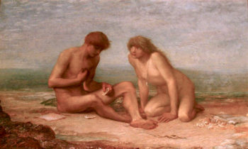 Tasting the First Oyster | George Frederic Watts | oil painting