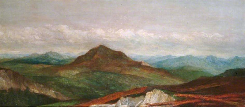 The Alps near Monnetier   George Frederic Watts   oil painting
