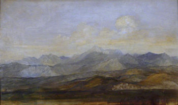 The Carrara Mountains from Pisa | George Frederic Watts | oil painting