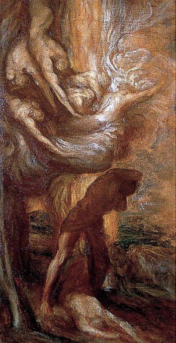The Curse of Cain | George Frederic Watts | oil painting