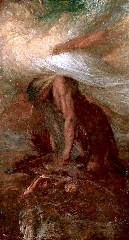 The Death of Cain   George Frederic Watts   oil painting