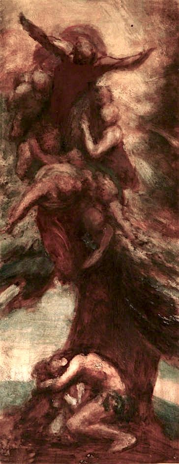 The Denunciation of Adam and Eve | George Frederic Watts | oil painting