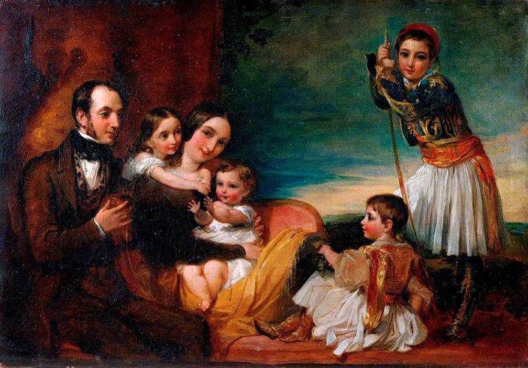 The Family of Alexander Constantine Ionides | George Frederic Watts | oil painting