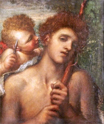 The First Whisper of Love | George Frederic Watts | oil painting