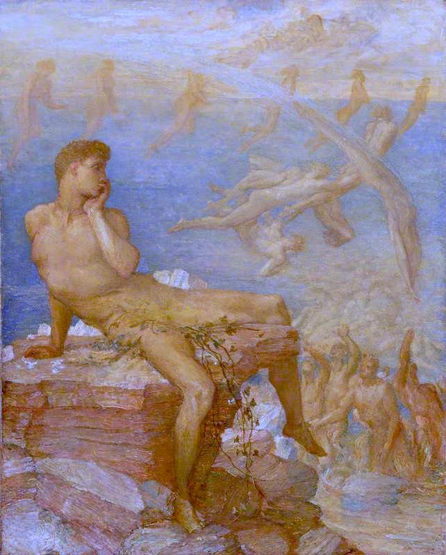 The Genius of Greek Poetry | George Frederic Watts | oil painting