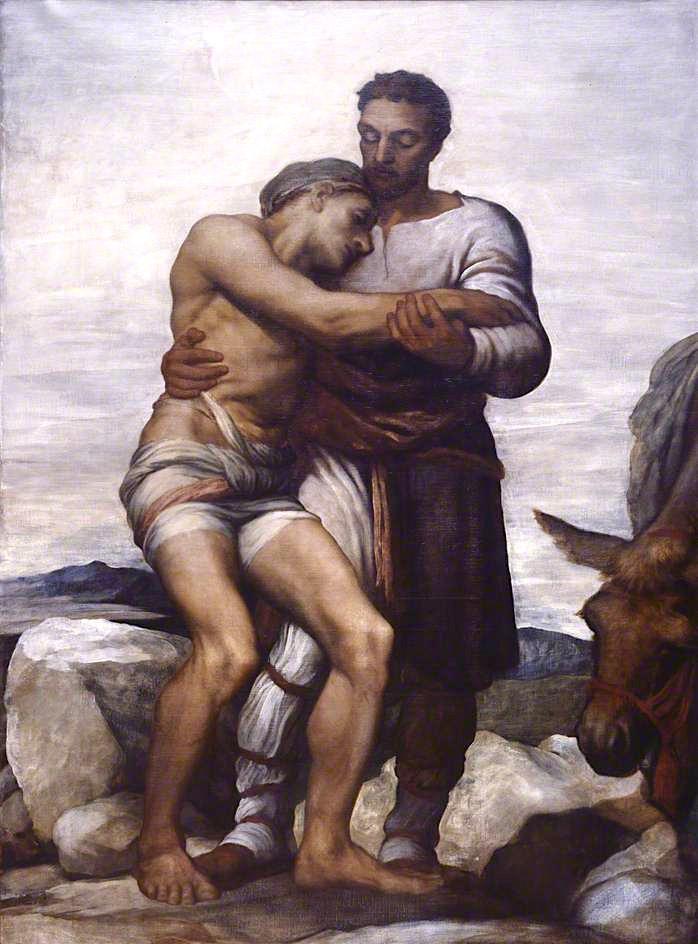 The Good Samaritan   George Frederic Watts   oil painting