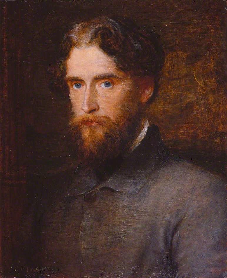 The Honourable John Lothrop Motley   George Frederic Watts   oil painting