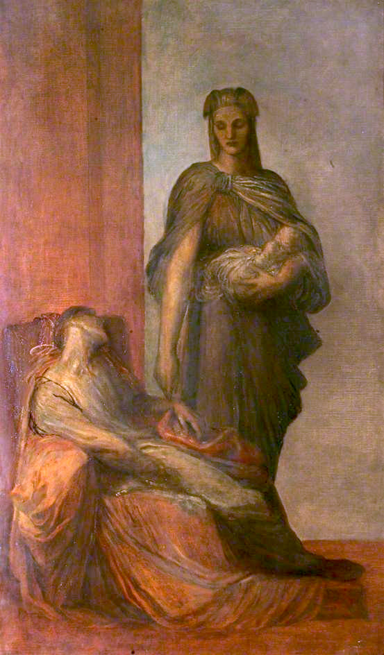 The Messenger   George Frederic Watts   oil painting