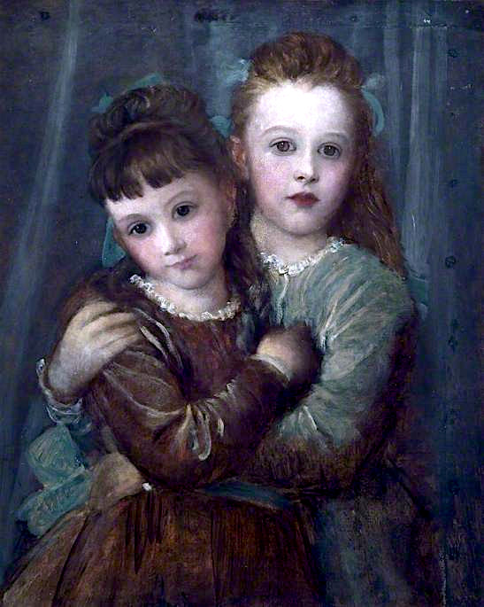 The Misses Gurney   George Frederic Watts   oil painting