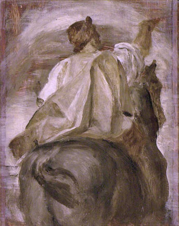 The Rider on the Black Horse | George Frederic Watts | oil painting