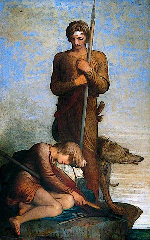 The Saxon Sentinels | George Frederic Watts | oil painting