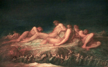 The Titans | George Frederic Watts | oil painting