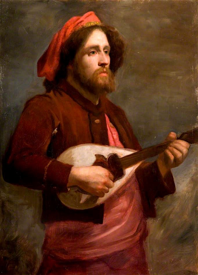 The Wandering Minstrel | George Frederic Watts | oil painting