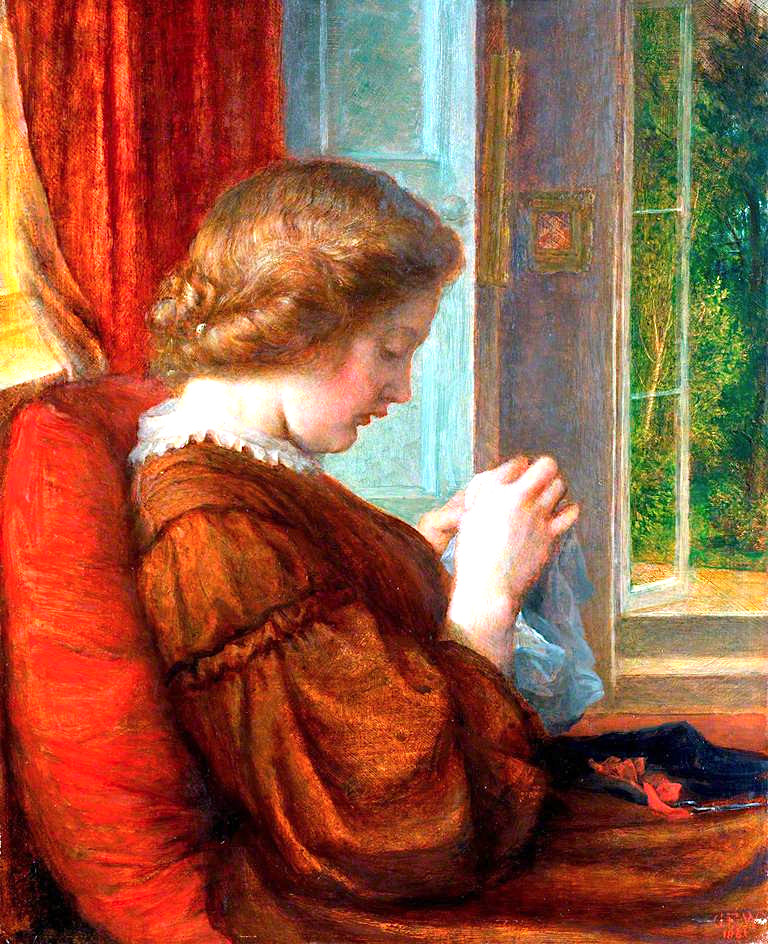 The Window Seat | George Frederic Watts | oil painting