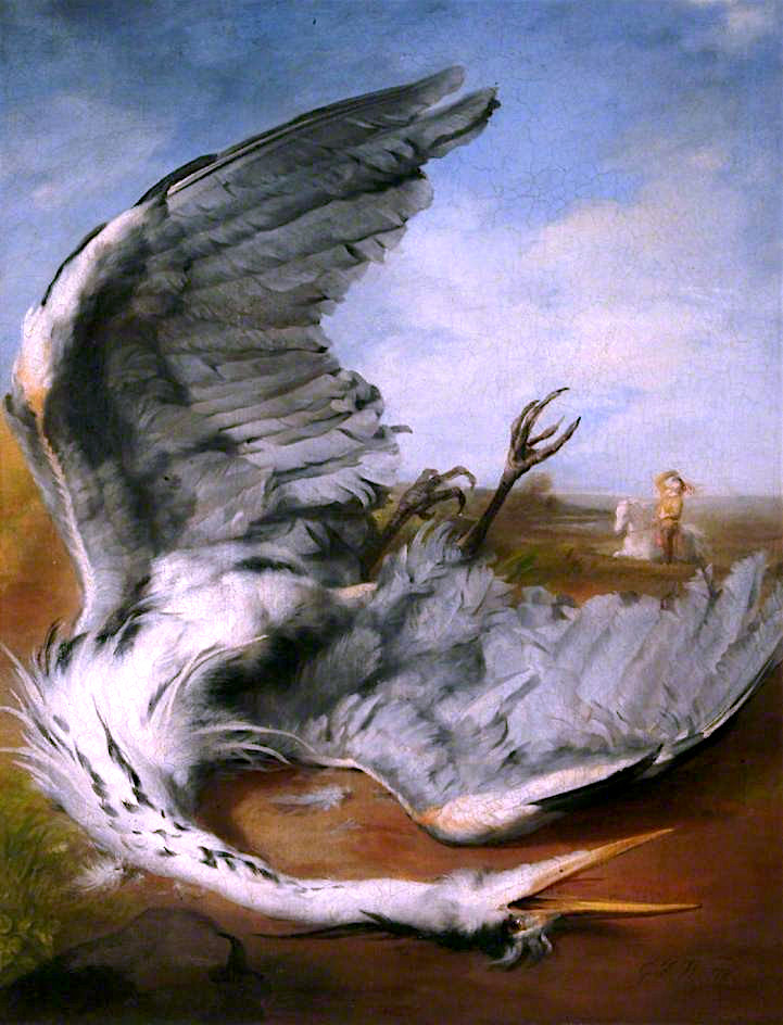The Wounded Heron | George Frederic Watts | oil painting