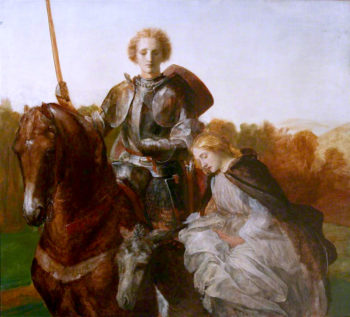 Una and the Red Cross Knight | George Frederic Watts | oil painting