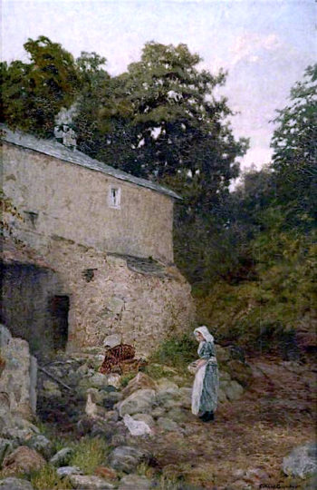 The End of the Village | Cuthbert Cartwright Grundy | oil painting