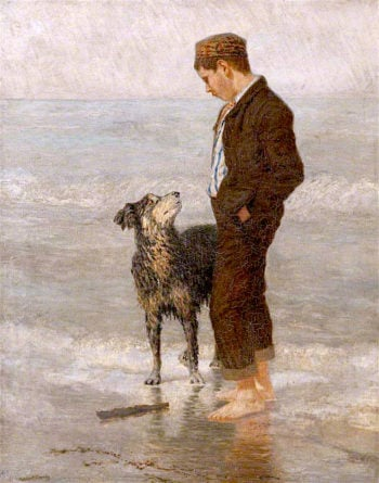 Throw It Again | Cuthbert Cartwright Grundy | oil painting