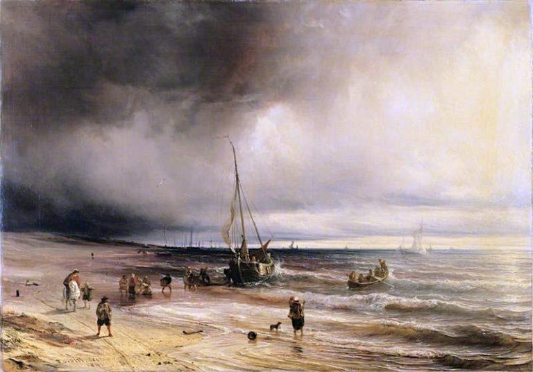 A Dutch Coast Scene | Theodore Gudin | oil painting