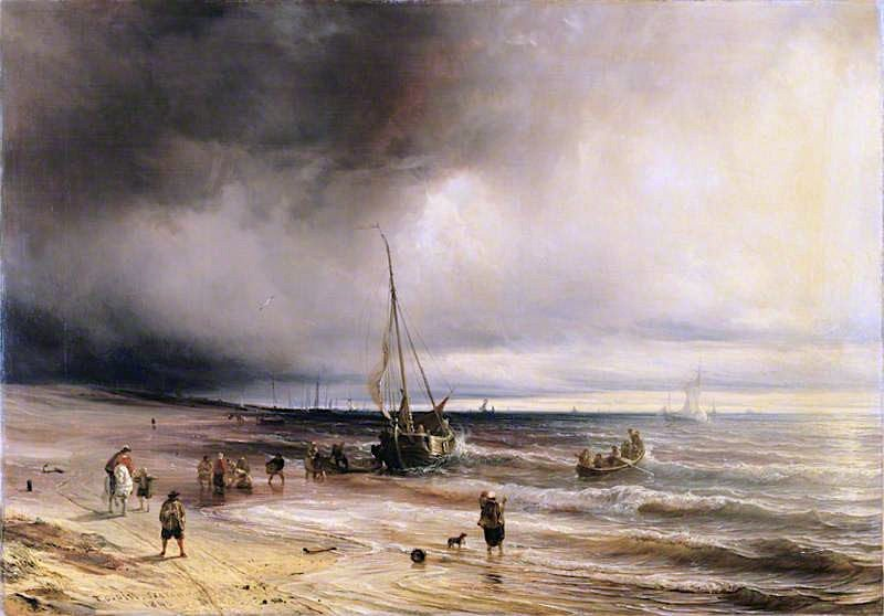 A Dutch Coast Scene | Theodore Gudin | oil painting