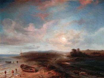 Coast View in Scotland   Theodore Gudin   oil painting