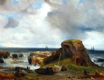 View on the Coast of Scotland | Theodore Gudin | oil painting