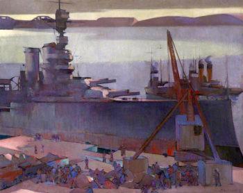 Last Mooring of the Ajax | David William Gunn | oil painting