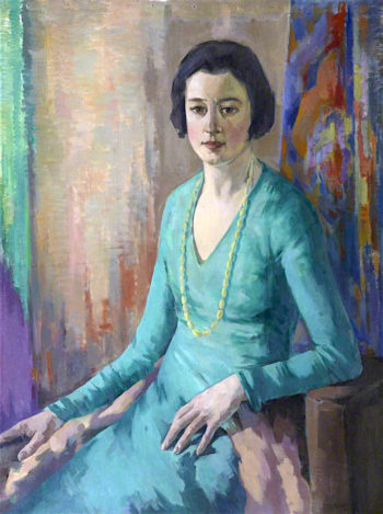 Portrait of a Lady in a Green Dress | David William Gunn | oil painting