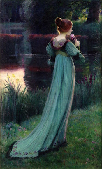 Reminiscing by the Pond | Armand Point | oil painting
