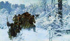 Return with a Bear | Julian Falat | oil painting