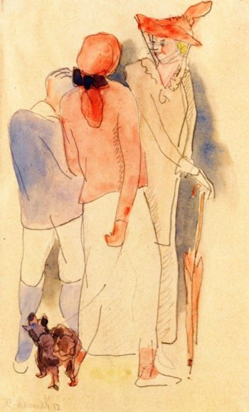 Strolling | Charles Demuth | oil painting
