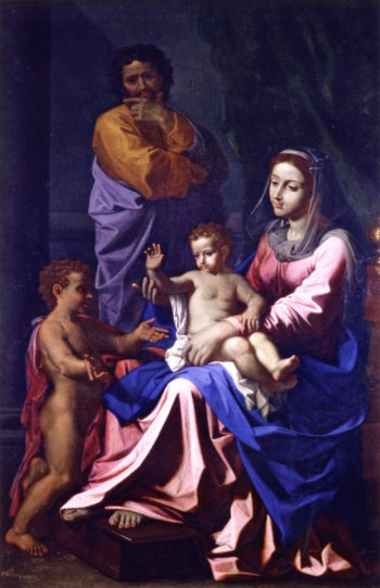 The Holy Family with Saint John | Nicolas Poussin | oil painting