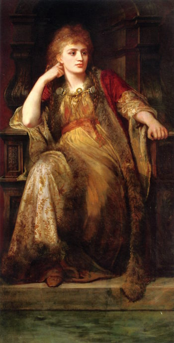 An Allegorical Figure | Charles Edward Halle | oil painting