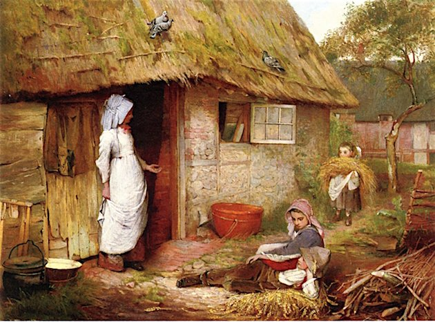 Outside the Cottage | Carlton Alfred Smith | oil painting