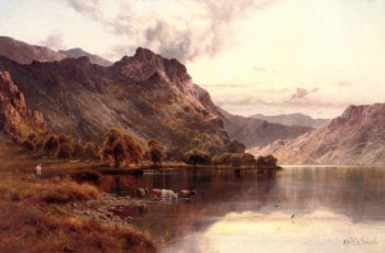 The Borrowdale Pass from Derwentwater | Alfred de Breanski