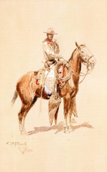 A Shadow Rider | Charles Marion Russell | oil painting