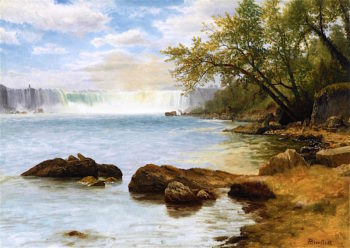 Niagara Falls   Albert Bierstadt   oil painting