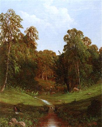 Bartlett Springs in the Merrimack | Alfred Thompson Bricher | oil painting