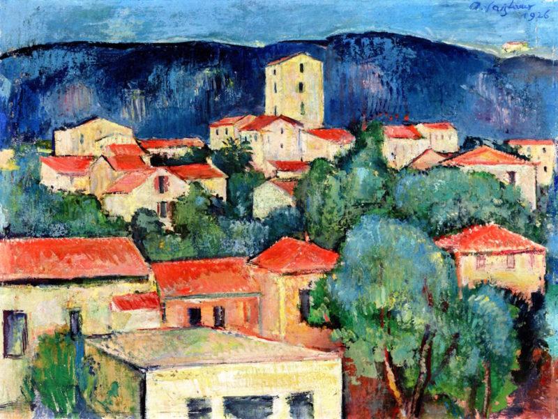 Landscape of Southern France (Aix - en - Provence)   Anton Faistauer   oil painting