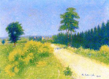 La route de Belize ves le relais | Achille Lauge | oil painting