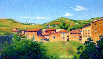 General View of Alet - les - Bains | Achille Lauge | oil painting