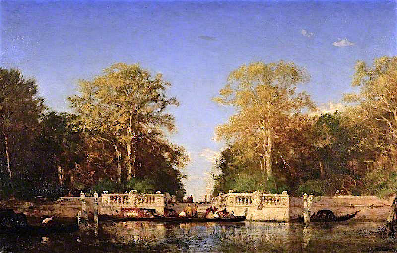 A View in Venice   Felix-Francois-Georges-Philbert Ziem   oil painting