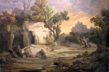Landscape with Aeneas and the Cumaean Sibyl | August Albert Zimmermann | oil painting
