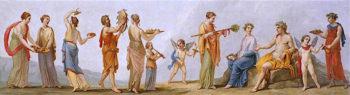 A Bacchanal   Antonio Zucchi   oil painting