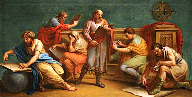 A Greek Philosopher and His Disciples | Antonio Zucchi | oil painting