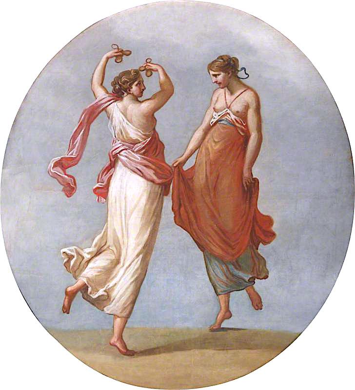 A Pair of Dancing Women | Antonio Zucchi | oil painting