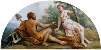 Agriculture | Antonio Zucchi | oil painting