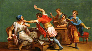 An Unidentified Classical Subject -  A Fight | Antonio Zucchi | oil painting