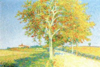 Route de Cailhau en autumne | Achille Lauge | oil painting